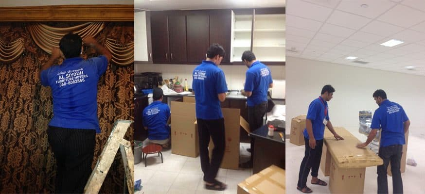 UAE, Dubai , Abu Dubai Special Movers and Relocation Expert at work